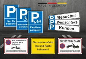 Parkplatzschilder