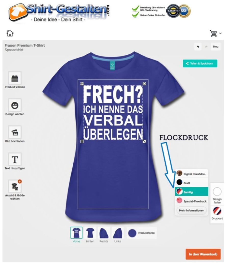 T-Shirts gestalten