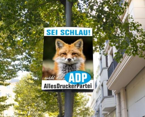 Beispiel für Wahlplakat