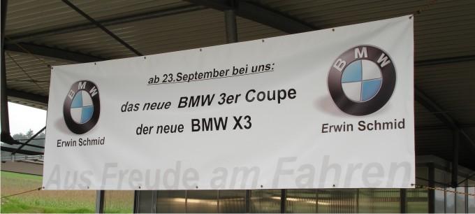 Werbebanner BMW Schmid