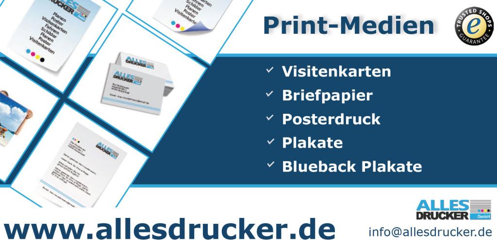 Flyer und sonstige Print-Medien
